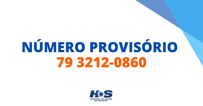 Número provisório 79 3212-0860